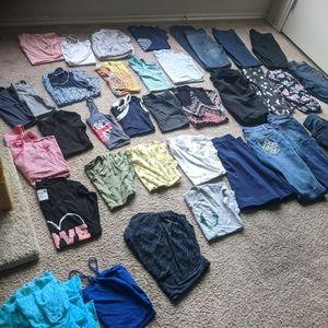 Medium shirts and size 8 _ 6 jeans, skirt, tanktop